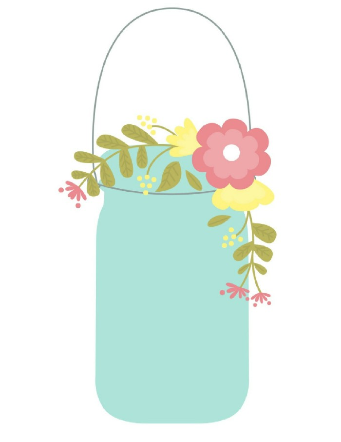 graphic regarding Printable Mason Jar Template named SPRING MASON JAR PRINTABLES Insane inside Crafts