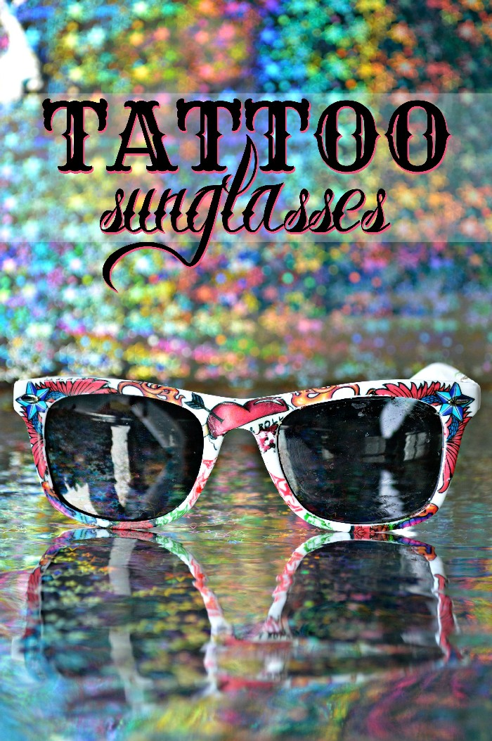 ROCK N ROLL SUNGLASSES WITH TEMPORARY TATTOOS