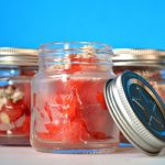 RED, WHITE & BLEU MINI MASON JAR SALADS