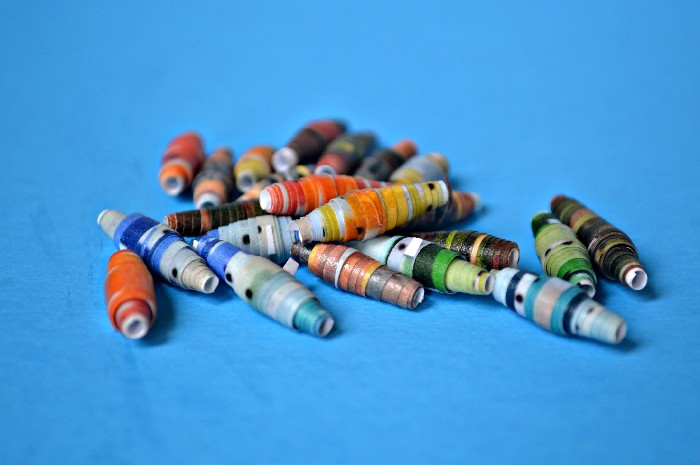PRINTED PAPER BEADS