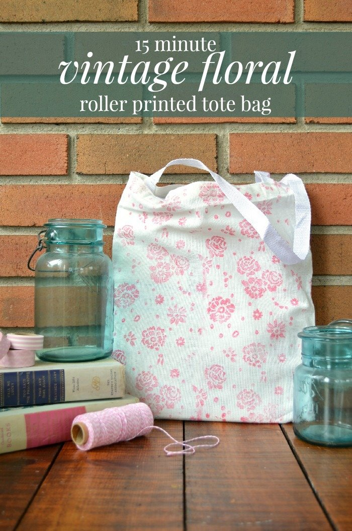 06223ac665 MAKE A 15 MINUTE FLORAL TOTE BAG Craft Videos Mad in Crafts