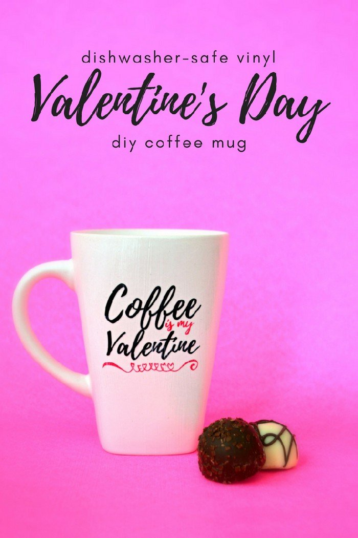 Make A Dishwasher Safe Vinyl Mug For Valentine S Day Holiday Videos Mad In Crafts