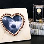 $2 COPPER STUDDED HEART FRAME