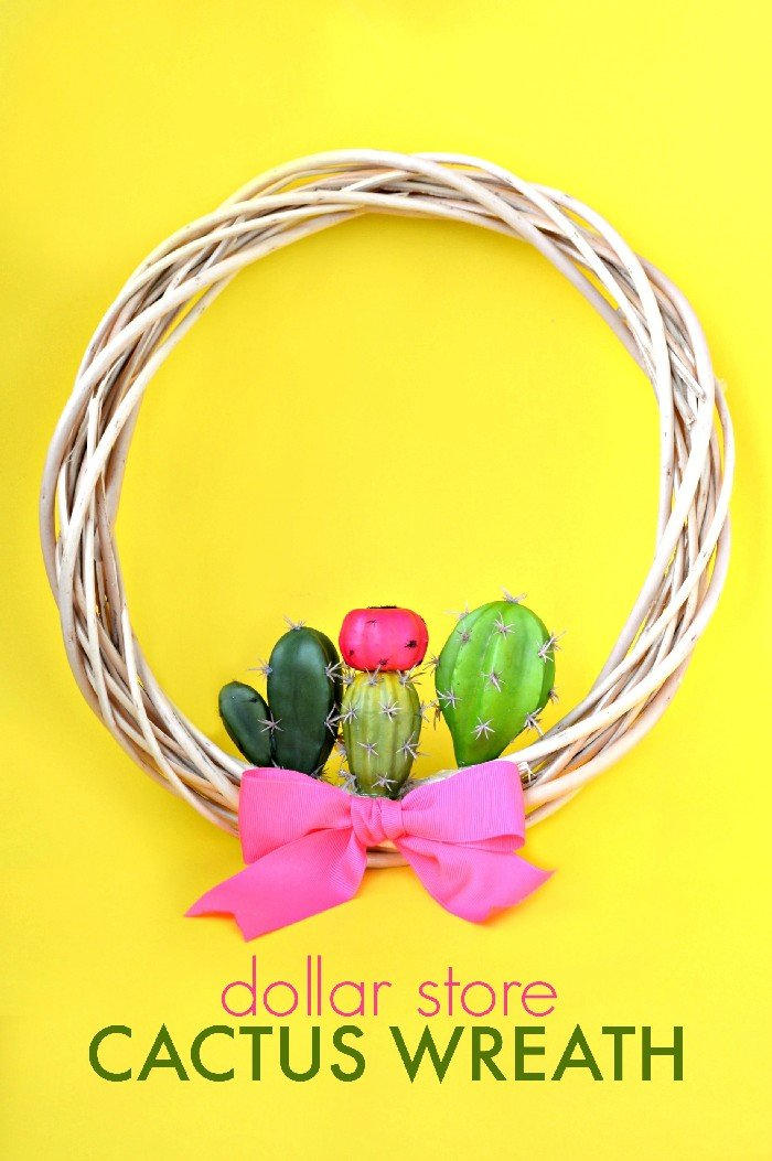 DOLLAR STORE CACTUS WREATH