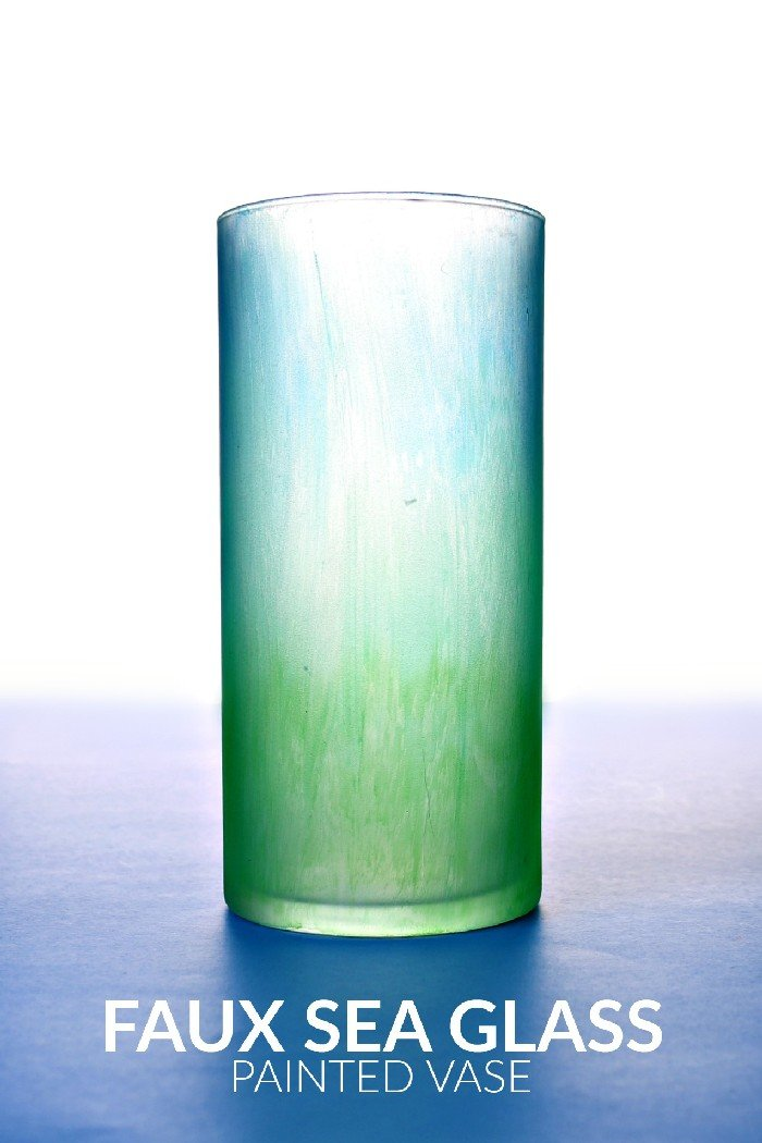 FAUX SEA GLASS VASE