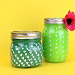 PAINTED CACTUS MASON JARS