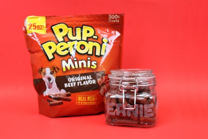 PERSONALIZED DOG TREAT JAR WITH PUP-PERONI®