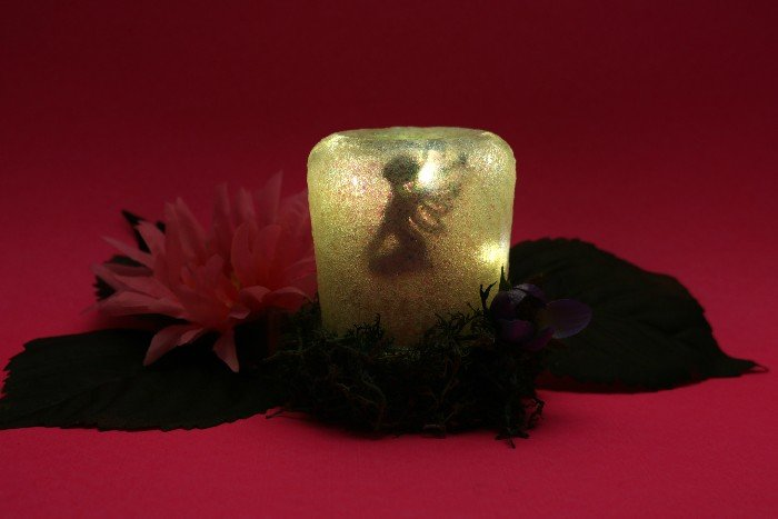 SECRET FAIRY NIGHT LIGHT FROM A YOGURT JAR