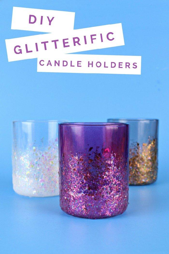 GLITTERIFIC CANDLE HOLDERS
