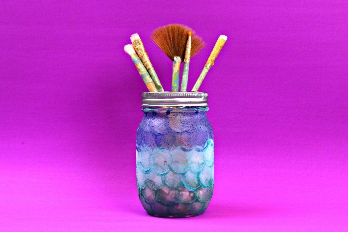 SUPER EASY MERMAID MASON JAR