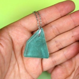 FAUX SEA GLASS JEWELRY MADE FROM RESIN