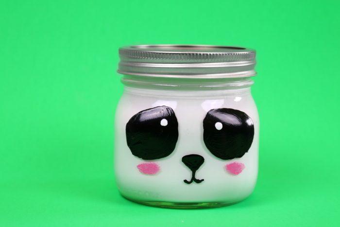 DIY PANDA MASON JAR