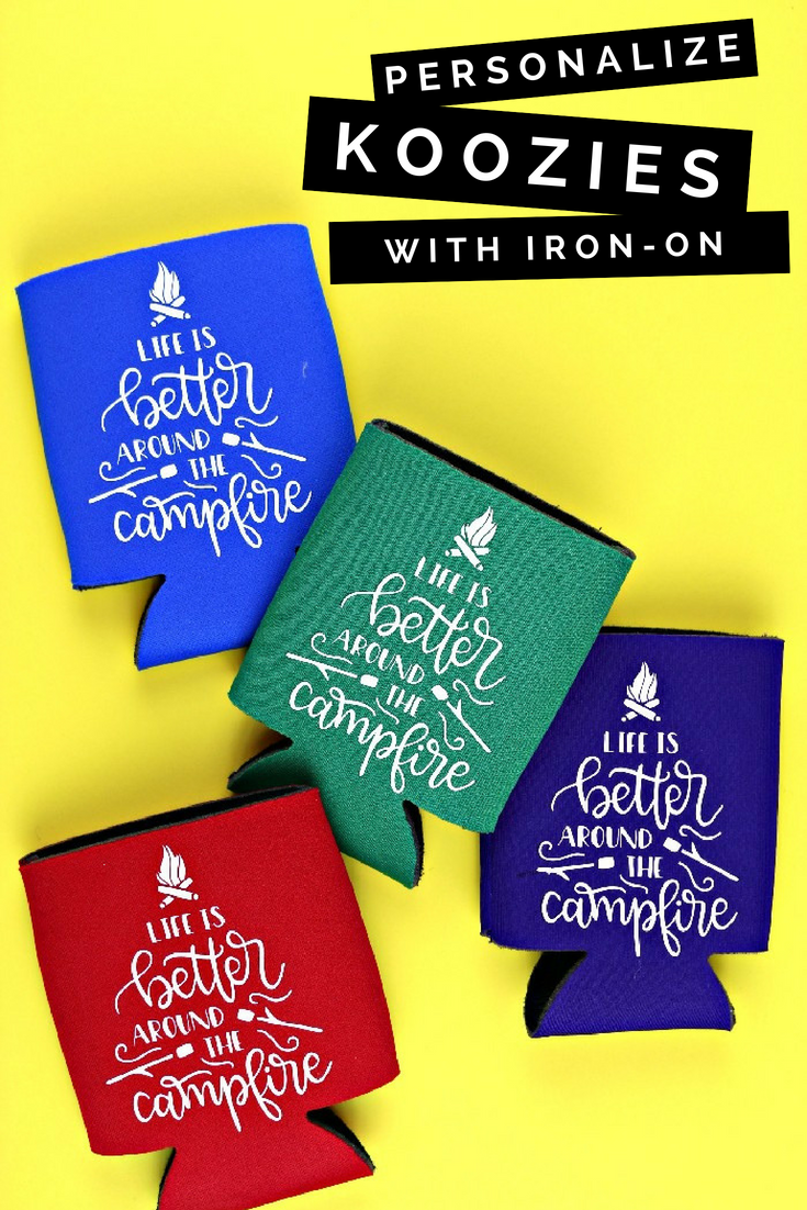How To Personalize Koozies With Iron On Vinyl Home Decor Mad In Crafts