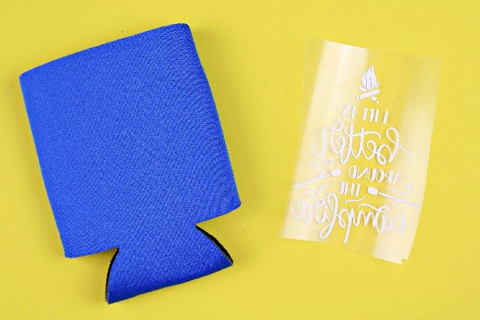 HOW TO PERSONALIZE KOOZIES WITH IRON ON VINYL Home Decor Mad