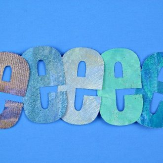 SCRAPE PAINTED LETTERS FOR BULLETIN BOARDS OR SCRAPBOOKING