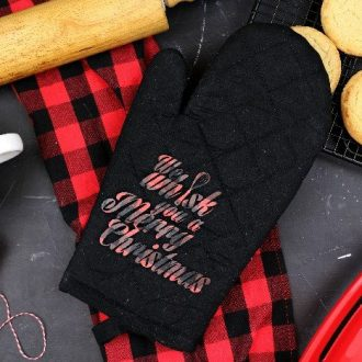 """""""WE WHISK YOU A MERRY CHRISTMAS"""" OVEN MITT"""