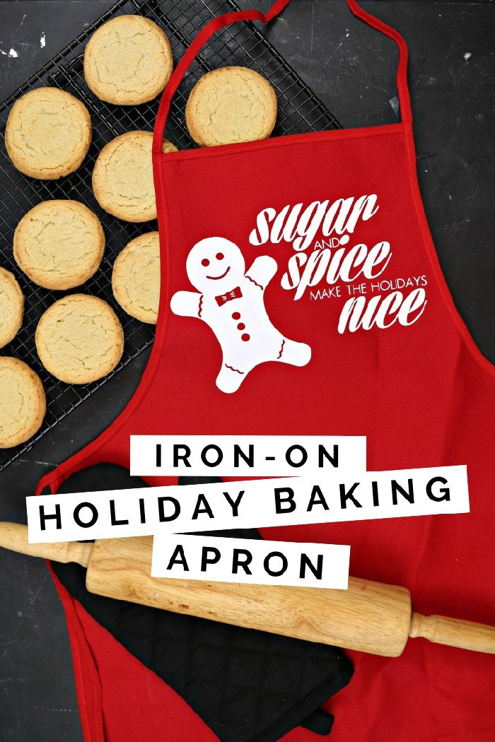 IRON-ON VINYL HOLIDAY BAKING APRON