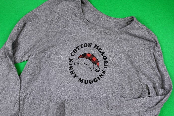 DIY COTTON HEADED NINNY MUGGINS SHIRT