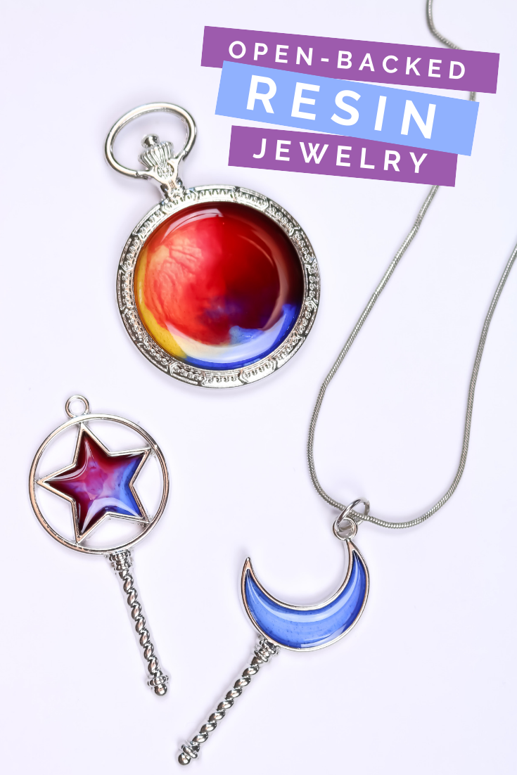 ADDING RESIN TO OPEN-BACKED JEWELRY