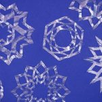 CLEAR SNOWFLAKE ORNAMENTS FROM COFFEE FILTERS