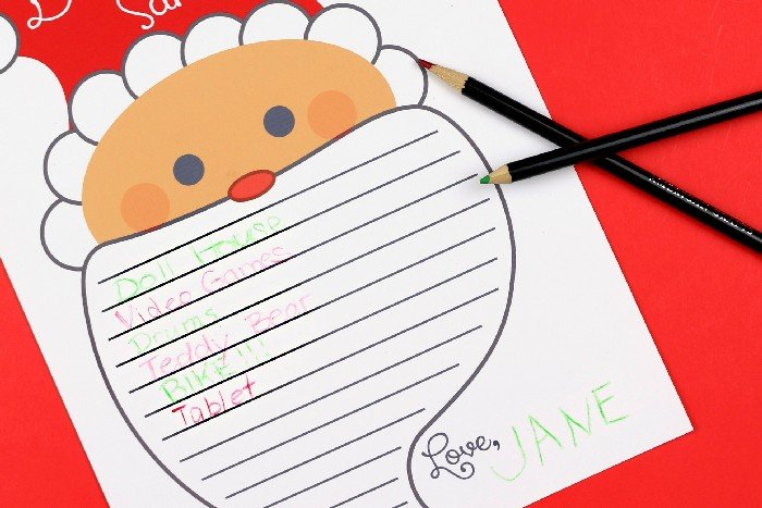 Printable Letter To Santa Template Crafts Mad In Crafts