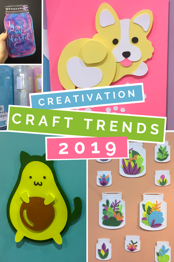 collage graphic that reads Creativation Craft Trends 2018