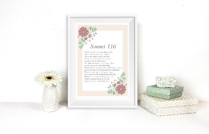 SHAKESPEARE LOVE SONNET PRINTABLES FOR VALENTINE'S DAY