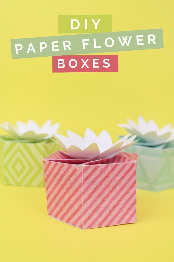 DIY FLOWER TOPPED GIFT BOXES