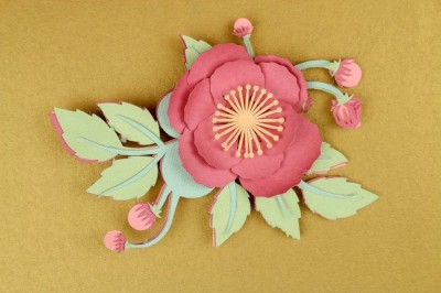 PAPER FLOWER CORSAGE FOR MOTHER'S DAY
