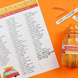 PRINTABLE BUCKET LIST FOR SUMMER VACATION