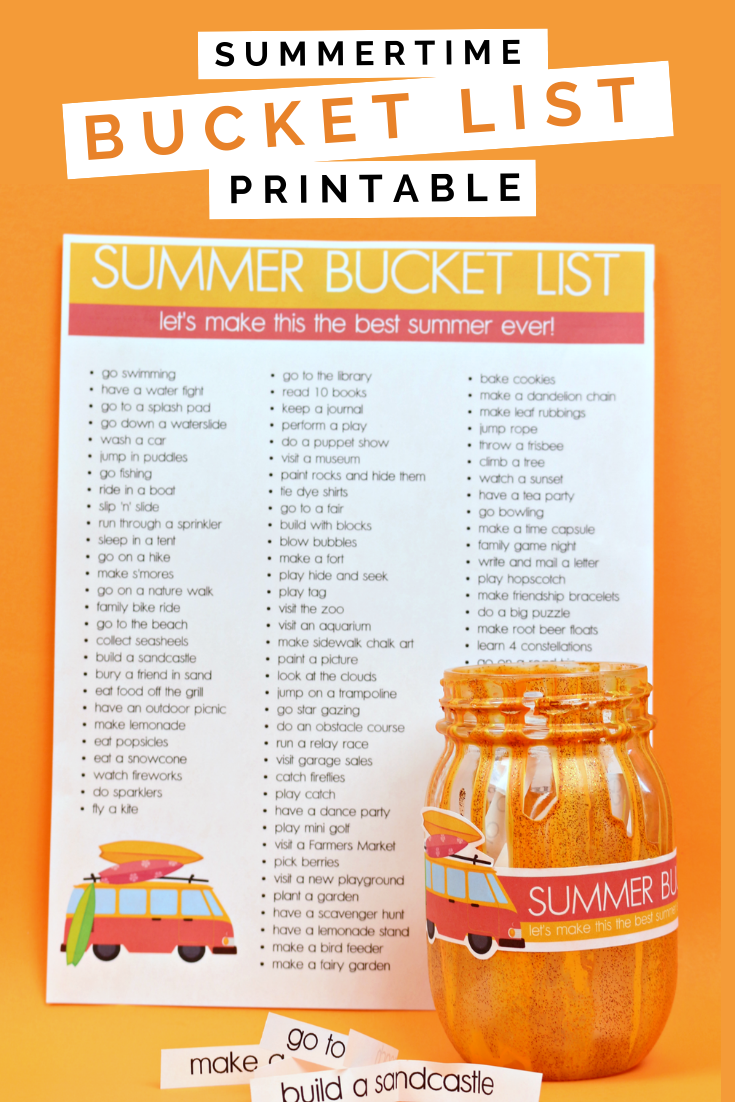 PRINTABLE BUCKET LISTS FOR SUMMER VACATION