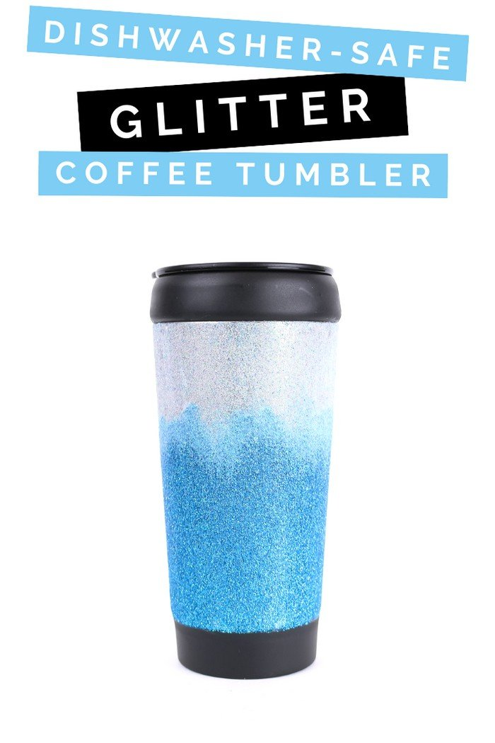 DISHWASHER-SAFE GLITTER COFFEE TUMBLER