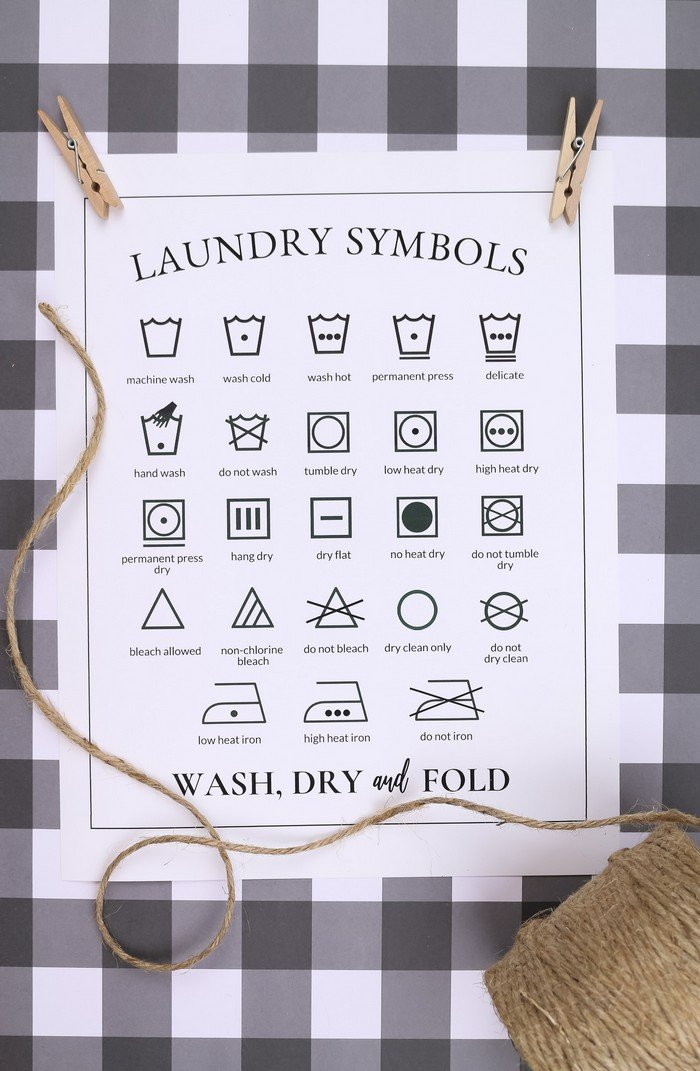 It is an image of Epic Printable Laundry Symbols