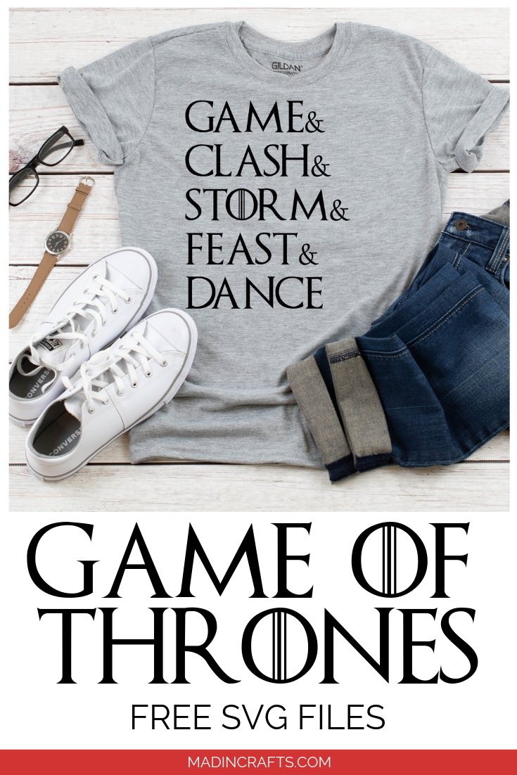 FREE GAME OF THRONES SHIRT CUT FILES