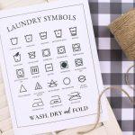 PRINTABLE LAUNDRY SYMBOLS CHART