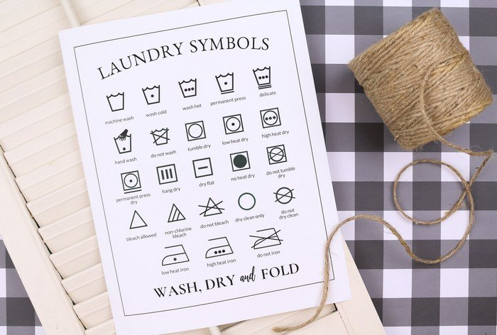 Printable Laundry Symbols Chart Mad In Crafts