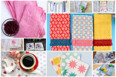 15 WAYS TO DECORATE TEA TOWELS