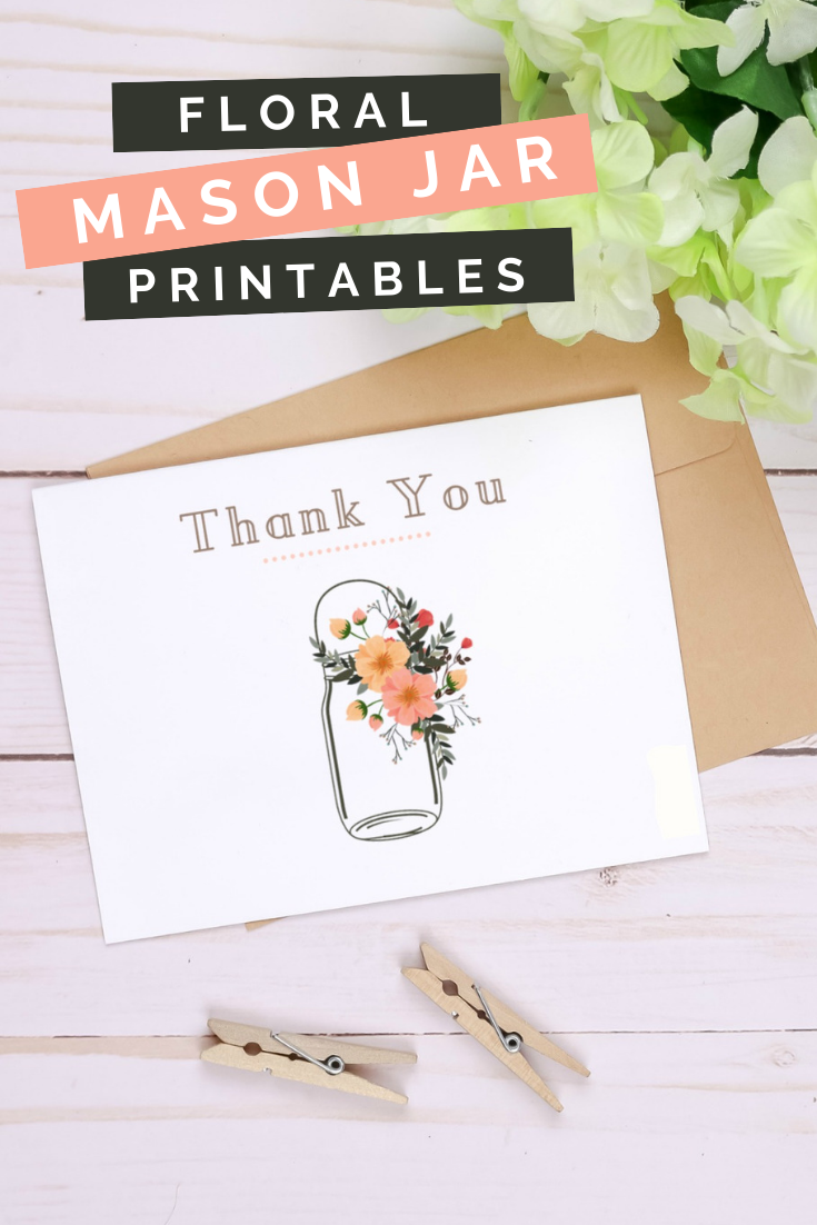 FLORAL MASON JAR BRIDAL SHOWER PRINTABLES