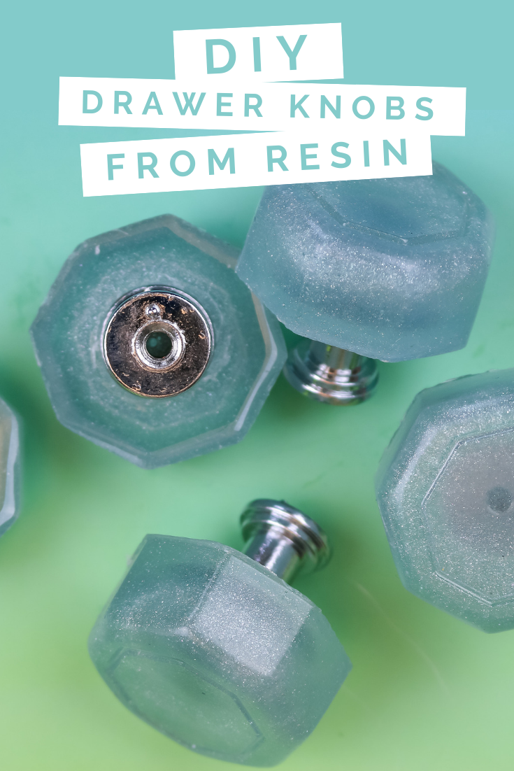 MAKE YOUR OWN CABINET DRAWER PULLS FROM RESIN