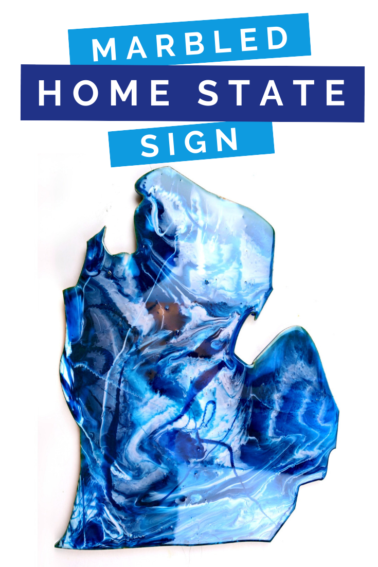 HOW TO CREATE A MARBLED RESIN STATE SIGN