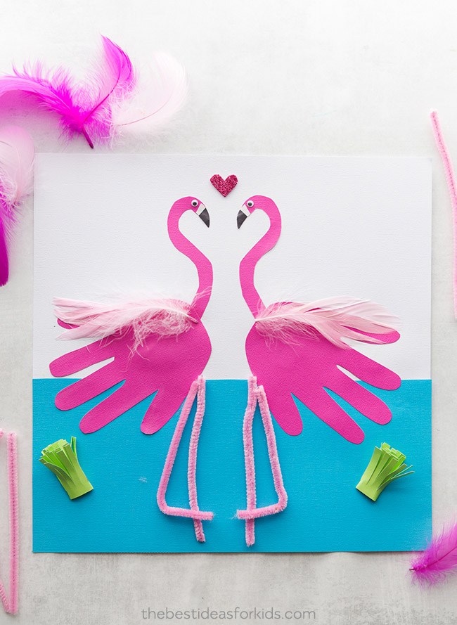 A FLOCK OF FLAMINGO CRAFTS