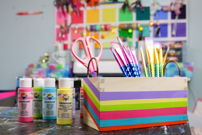 COLORFUL CRAFT CADDY TUTORIAL