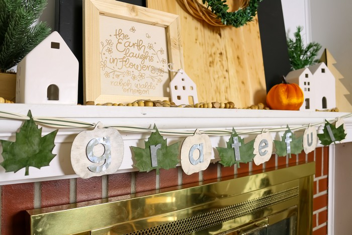 FARMHOUSE FALL BANNER WITH DOLLAR STORE SUPPLIES
