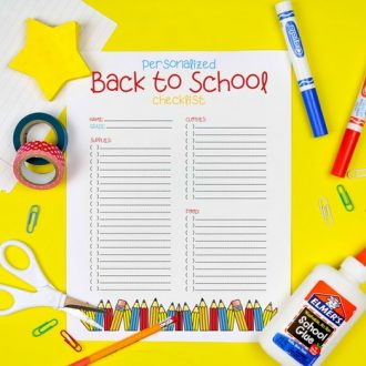 PRINTABLE CHECKLIST FOR SCHOOL SUPPLIES
