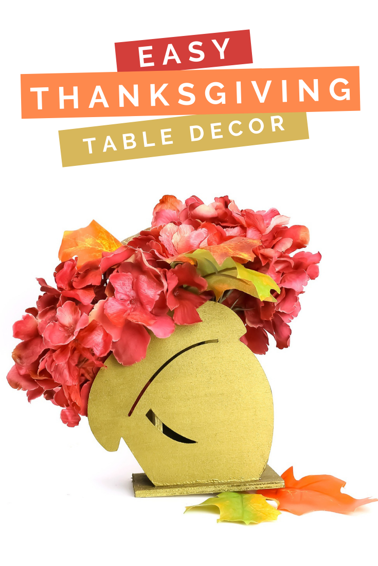 dollar store thanksgiving centerpiece with flowers