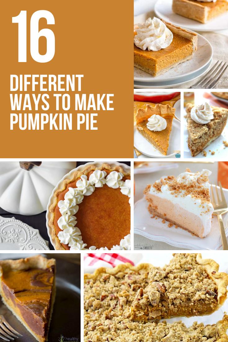 16 DIFFERENT WAYS TO MAKE PUMPKIN PIE