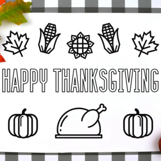 COLORING PAGE PLACEMATS FOR THANKSGIVING