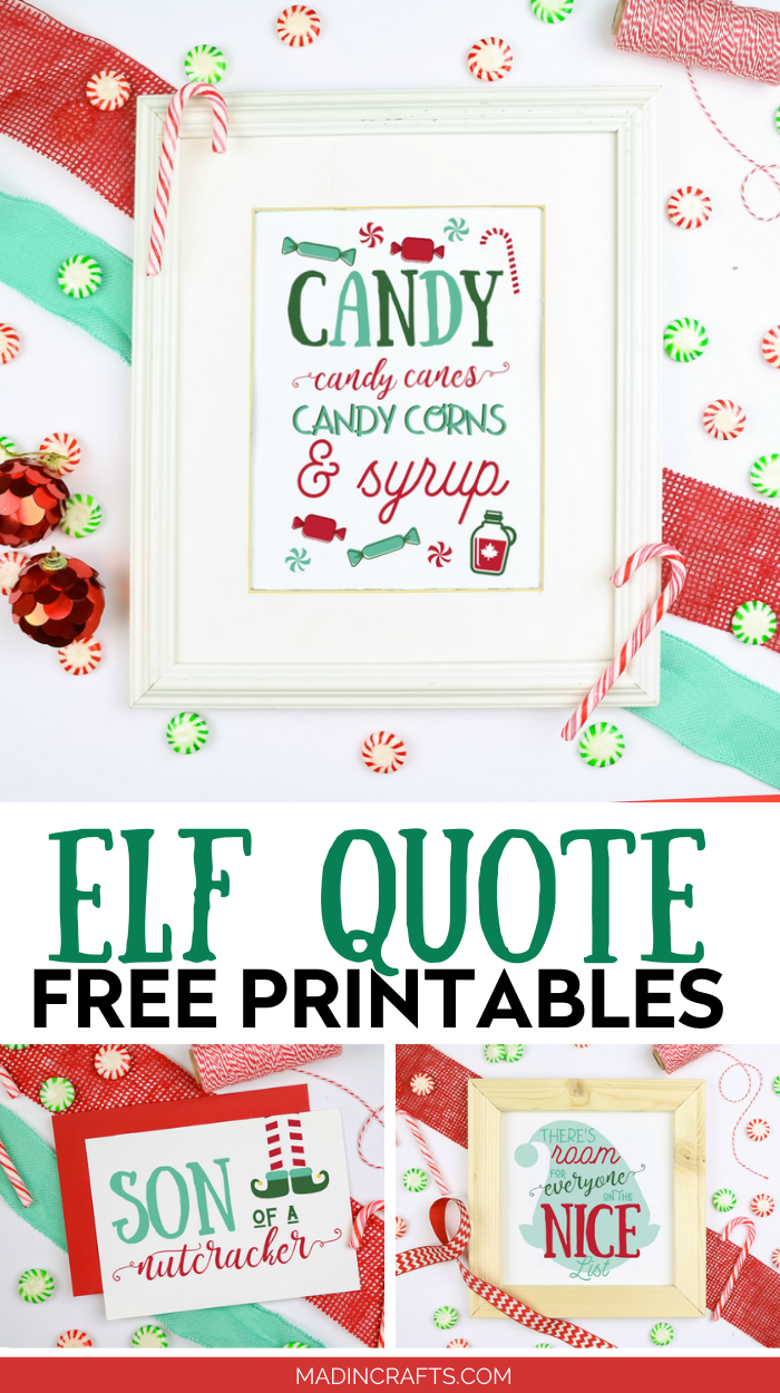 ELF QUOTE PRINTABLES FOR CHRISTMAS