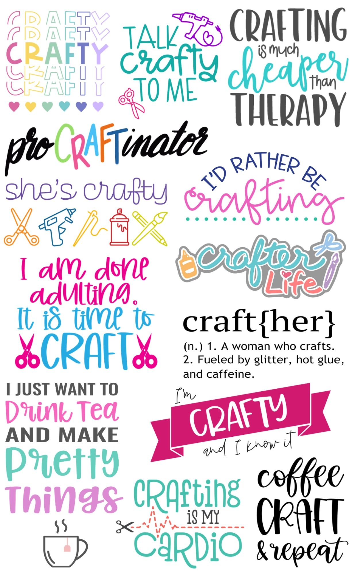SHE S CRAFTY FREE SVG FILE SVG Mad in Crafts