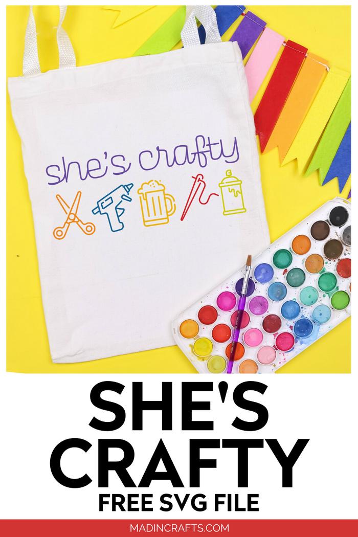 SHE'S CRAFTY FREE SVG FILE
